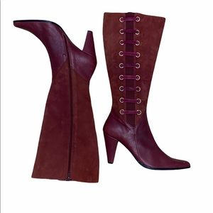 Bellini Reality Wine Leather High Suede Boots